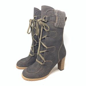 See by Chloe 41 Wallabee Heel Calf Boots Leather